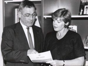Anita Pollack consults Ken Colllins