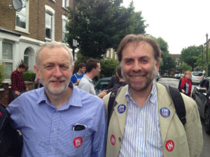 Photo of Jeremy Corbyn and Martin Westlake