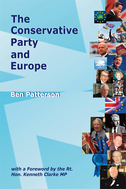 The Conservative Party and Europe Book Cover