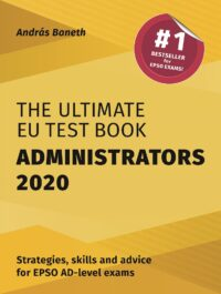 Book cover of The Ultimate EU Test Book Administrators 2020 by András Baneth